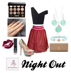 """""""The Evangeline Wrap Skirt - Night Out"""" by dasrockhaus on Polyvore"""