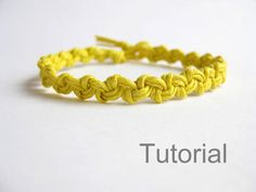 Macrame bracelet pattern tutorial pdf easy yellow knotted step by step photo instructions how to instant download makrame tuto jewelry diy