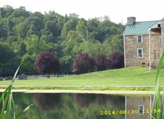 Original House at Poor House Farm Park, Martinsburg WV.  It use to house a group home and it was named Mountainside Group Home.  They are re-building it.