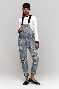 One Teaspoon Cobain Awesome overalls, $160.