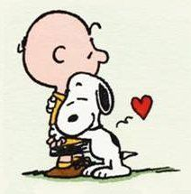 Charlie Brown And Snoopy Hugging