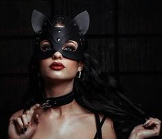Leather mask Cat face mask Cat mask Party от ArtLeatherDesign