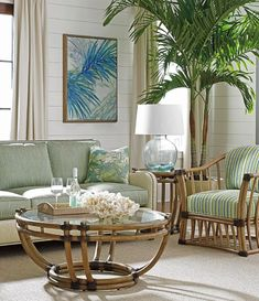 Home Decor Tommy Bahama Island Furnishings & Decor Collections - Coastal Decor Ideas Interior Design DIY Shopping Tropical Home Decor, Tropical Interior, Tropical Houses, Coastal Decor, Tropical Colors, Tropical Living Rooms, Hawaiian Home Decor, Tropical Furniture, Tropical Style