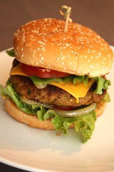 Steaks hachés de poulet maison- Homemade chicken burger patties - Mon Île, ma Passion...