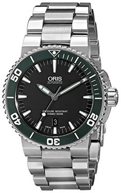 Oris Men's 73376534137MB Divers Analog Display Swiss Automatic Silver Watch. Product details http://astore.amazon.com/usxproducts-20/detail/B00NBAJXSQ