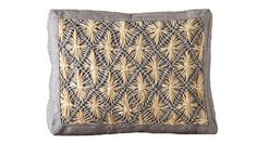 Fair Trade Boxed Rafia Pillow by Mar y Sol. never seen a raffia pillow before-- I like!