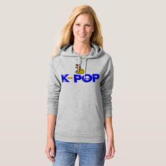 I Love KPop Fabulous American Apparel Fleece Hoodie - kpop dancing music cool diy custom korean bts