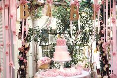 A Feminine, Elegant Baby Shower in Pink and Gold | Cake Sweet and Saucy Shop