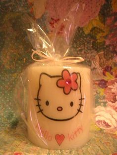 Hello Kitty bling unity candle Unity Candle, Candles, Hello Kitty Wedding, Precious Moments, To My Daughter, Girly, Victoria, Bling, Unique Jewelry