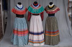 Seminole women's clothing which represents clothing of the late 1800's. Museum of Florida History.