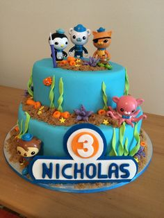 Octonauts cake for Nicholas.