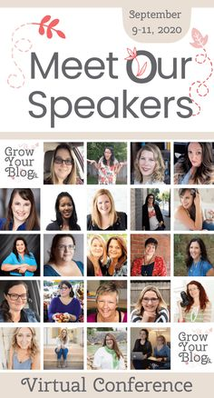 Meet The 2020 Grow Your Blog Virtual Conference Speakers! We know you will love this line up of amazing individuals as much as we do! From big names that are on the line up of every conference to brand new, but no less amazing, speakers - we are covering the most pressing topics of 2020! #blogconference #bloggertips #virtualconference Conference Branding, Blogger Tips, Reading Material, Virtual Assistant, Ways To Save Money, Autumn Inspiration, Helping Others, Lineup, Speakers