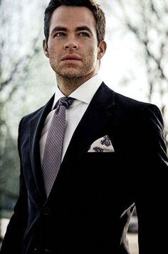 The Dapper Gentleman chris pine aka capt. Sharp Dressed Man, Well Dressed Men, Trajes Harvey Specter, Fashion Moda, Mens Fashion, Fashion Wear, Style Fashion, Looks Style, My Style