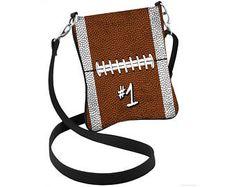 Personalized Football Crossbody Bag, Football Hipster, Football Purse, Sports Bag, Football Mom, Football Swag, Sports Purse