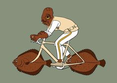 Admiral Ackbar riding bike with fish wheels 5x7 print, $15.00... Fo Jon?