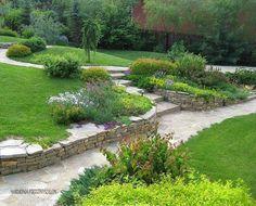 sloping gardenterraced gardenwalled gardendevon ukdevon englandgarden walls garden housesgarden bedsgarden design - Garden Design By Carolyn Mullet