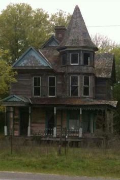 Once an elegant Victorian mansion, now forgotten in Kosse, Texas.                                                                                                                                                      More