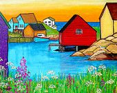 Peggy's Cove, Nova Scotia, Summer Solstice, Print, Shelagh Duffett
