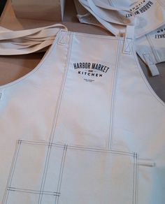 Our aprons have arrived ! They will soon be for sale on our web site  www.harbormarket.com