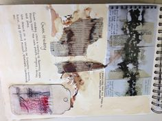 Textiles Art Sketchbook - art & design explorations with creative mixed media pages