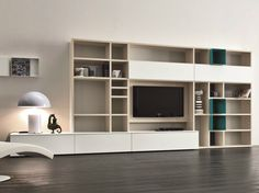 Mueble modular de pared lacado con soporte para tv SPEED N - Dall'Agnese