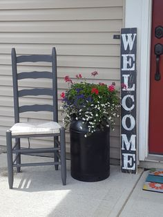 Vertical Welcome Sign, Entryway Sign, Front Door Sign, Porch Sign, Hand Painted Sign, Wood Sign, Rustic Sign, Distressed Sign by RagdollAnnies on Etsy https://www.etsy.com/listing/240986942/vertical-welcome-sign-entryway-sign