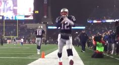 Tom Brady just took the field for the New England Patriots and he is ready to play in his 6th consecutive AFC Championship Game as the Patriots take on the Pittsburgh Steelers. This game also marks th