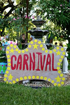 We could make a sign like this! #Carnival