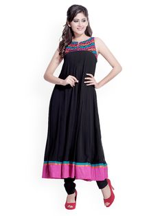 kurta dresses for women bangladesh | Myntra Iti Women Black Anarkali Kurta 430070 | Buy Myntra Iti Kurtas ...