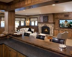 Traditional Family Room Family Room Corner Fireplace Design, Pictures, Remodel, Decor and Ideas - page 3