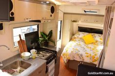 Surprisingly spacious inside while having the essentials in all the right places, the Liberty Tourer moves you from one story to the next This van can now . Solar, Caravans For Sale, First Story, Bunk Beds, Liberty, Essentials, Places, Furniture, Home Decor