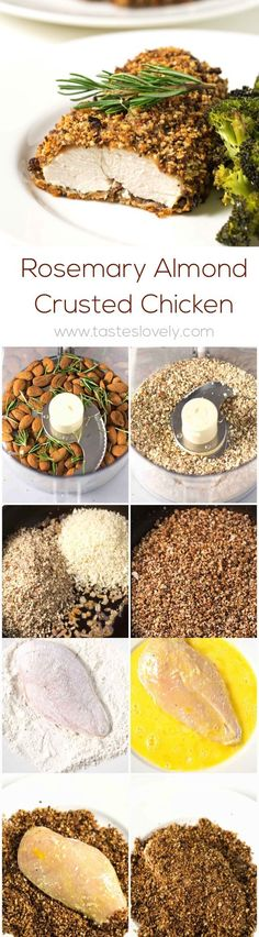 Rosemary Almond Crusted Vegan Chicken- use almond flour & egg replacer, NO breadcrumbs to make Keto
