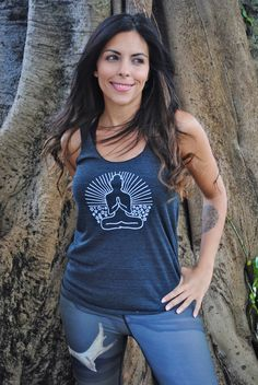 Hey, I found this really awesome Etsy listing at https://www.etsy.com/listing/114761437/buddha-yoga-racerback-tank-top