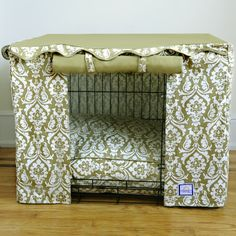BowhausNYC Damask Dog Crate Cover & Reviews | Wayfair