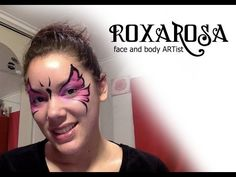 ▶ RoxaRosa face paint tutorial fast butterfly - YouTube