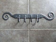 4 hook key rack, handmade by Metcalfe Iron Works