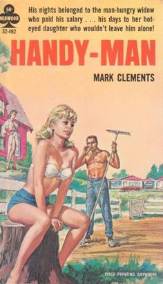 Handy-Man - Mark Clements. Vintage Pulp Fiction Paperback Book.  Pin-up Cover Art.