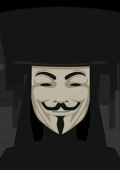 V for Vendetta Poster Created by Sindre Hartberg