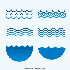 Free Waves Clip Art of Waves wave clip art images clipart image for your personal projects, presentations or web designs. Icon Design, Logo Design, Graphic Design, Wave Clipart, Sea Logo, Waves Icon, Waves Vector, Waves Logo, Hotel Logo