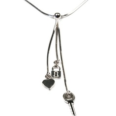These sterling silver necklace with pendants provide a constant reminder of the positive powers of an open heart. Unlock the key to your potential and step into a more positive world! Designed in England. Crafted in Italy. Key Pendant, Pendant Necklace, Women's Necklaces, Sterling Silver Necklaces, England, Pendants, Italy, Heart, Jewelry
