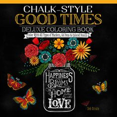 Design Originals Chalk Style Good Times Coloring Book