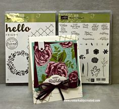 Hello Friend and Beautiful Bouquet are two must have new Stampin' UP! stamps