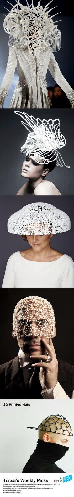 Tessa's Weekly Picks   3D Printed Hat Designs