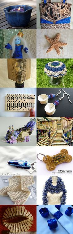 MOTIVATION TREASURY.  ROYAL BLUE AND TAN by Carol on Etsy--Pinned with TreasuryPin.com