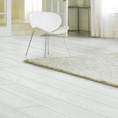 Plancher en pin brossé huilé blanc L.200 x 15,5 cm