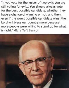 Didn't find any real proof that Pres. Benson said this.but I feel like this makes pretty good sense. Prophet Quotes, Lds Quotes, Religious Quotes, Quotable Quotes, Great Quotes, Quotes To Live By, Funny Quotes, Vote Quotes, Lds Faith