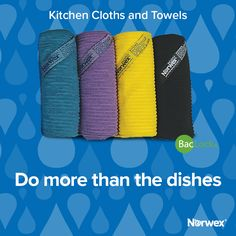 Our Kitchen Towels and Cloths are great for more than just dishes! Now available in 4 NEW colors! #Norwex2017