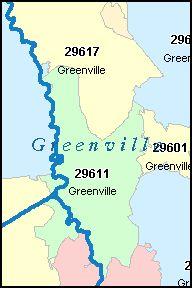 Greer Sc Zip Code Map.Sc County Zip Code Map Greenville County South Carolina Zip Code