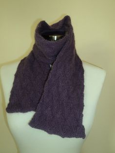 Fuzzy Purple Chevron Scarf