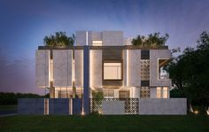 private villa  500 m  Kuwait  sarah sadeq architects